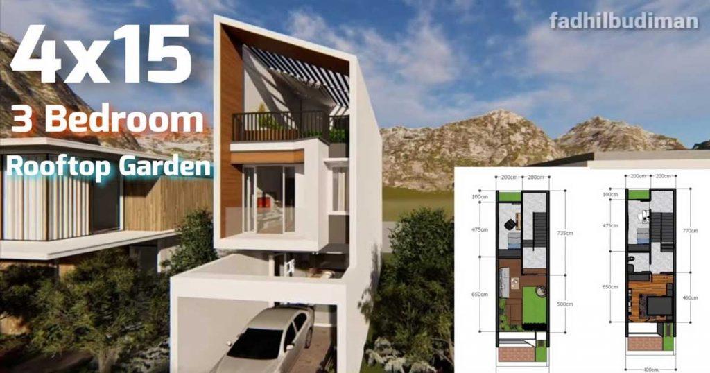 plantas de casas com 4 metros de largura
