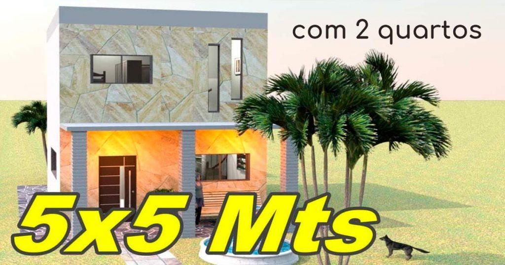 planta de casa 5x5